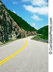On the Road - This is the road going around the Cabot Trail...