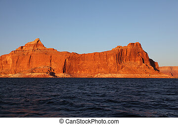 On the shores of Lake Powell