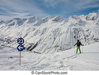 On the slopes of the ski resort of Hohrgurgl. Austria