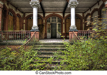 on the terrace - The old hospital complex in Beelitz near...