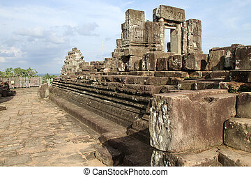 On the top of Phnom Bakheng, Angkor, Cambodia