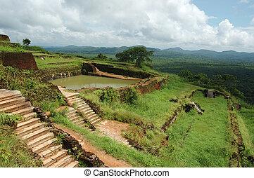 On the top of Sigiriya - Lion's rock ,Sri Lanka, ancient ...