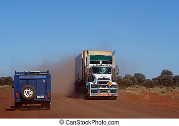 On the track in the Australian bush, a truck of explosives...