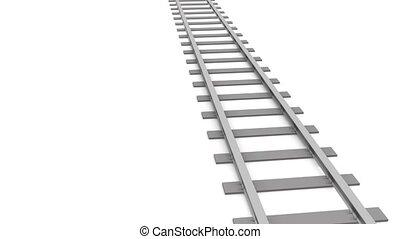 On the train   - Railroad track animation