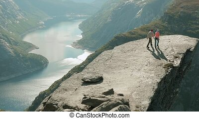 On the Trolltunga in the Norway