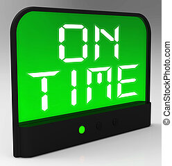 On Time Clock Means Punctual And Not Late - On Time Clock ...