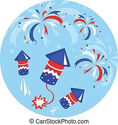 onafhankelijkheid, pictogram, dag