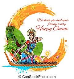 Onam background showing culture of Kerala