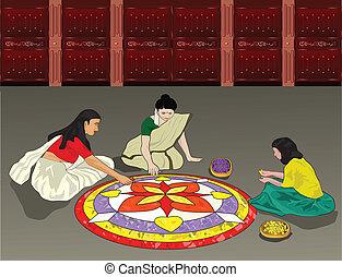 Onam Celebration - Onam is a festival celebrated by the...