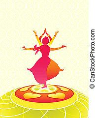 Onam greetings - Dancing women greeting card for Onam...