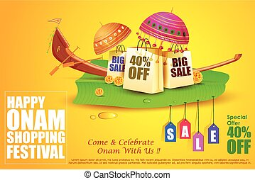 Onam Sale and promotion offer - easy to edit vector...
