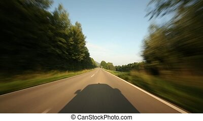 Onboard-Camera on a rural road in Germany (P.O.V.)