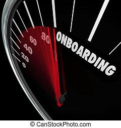 onboarding, új munkavállaló, munkás, bevezetés, fogadtatás