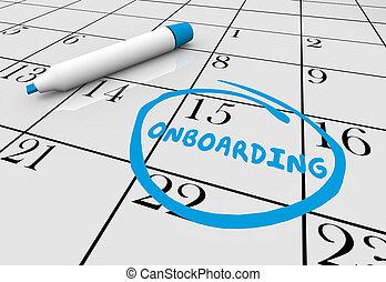 Onboarding Calendar New Job Employee Start Date 3d ...