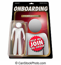 Onboarding New Employee Team Member Action Figure 3d Render ...