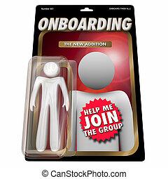 Onboarding New Employee Team Member Action Figure 3d Render ...