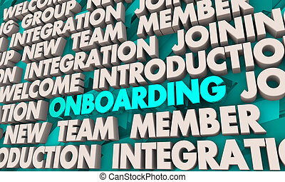 Onboarding Welcome New Member Introduction Join Team Words ...