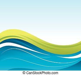 onda, agua, plano de fondo, icono