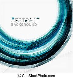 onda azul, abstratos, fundo
