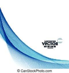 onda azul, fundo, desenho