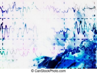 onda cérebro, ligado, electroencephalogram