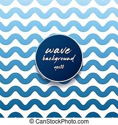 onda, configurazione ondosa, o, blu, linee bianche, zebrato, fondo., astratto