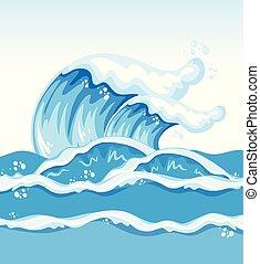 onda grande, océano