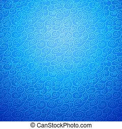 onda, seamless, ornamentale, fondo, in, blu, colorare, opzione