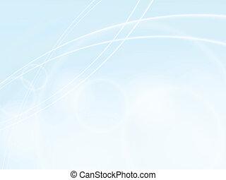 ondas azules, luz, diseño, plantilla, marco, plano de fondo