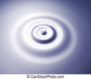 ondas, circular, anillos
