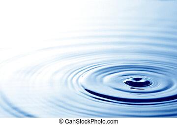 ondas, en, agua