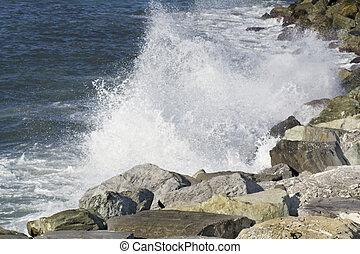 ondas, ligurian, costa