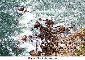 ondas, pedras