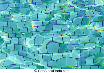 ondas, piscina, ondulação, natação, fundo, fluxo