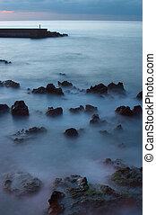 ondas, rocas
