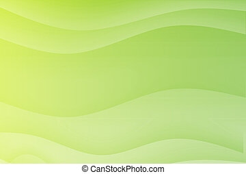 ondas, verde, fluir, calmante