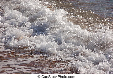 onde, di, risacca, sulla, spiaggia