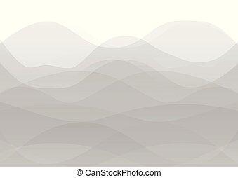onde, fondo, astratto, bianco