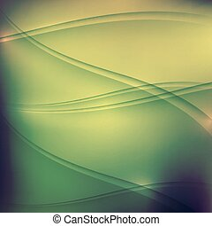 onde, fondo, estratto verde