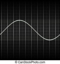 onde, misurazione, mostra