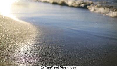 onde, rottura, sabbia