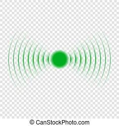 onde sonore, icon., recherche, sonar