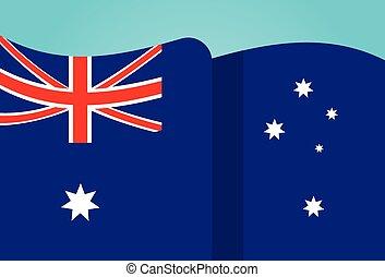 ondeggiare, appartamento, nazionale, bandiera australia