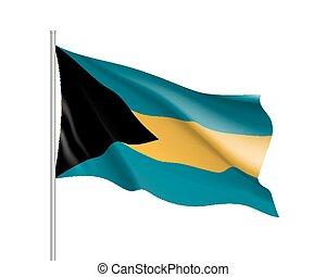 ondeggiare, bandiera bahamas