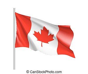 ondeggiare, bandiera canada