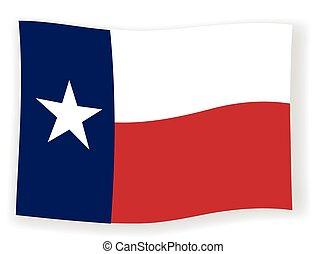 ondeggiare, bandierina condizione, texas