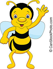 ondeggiare, carino, cartone animato, ape