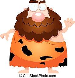 ondeggiare, caveman, cartone animato