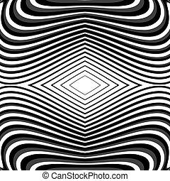 ondeggiare, monocromatico, disegno, linee, fondo