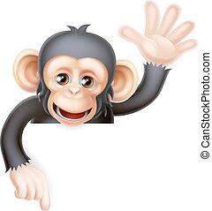 ondeggiare, scimmia, segno